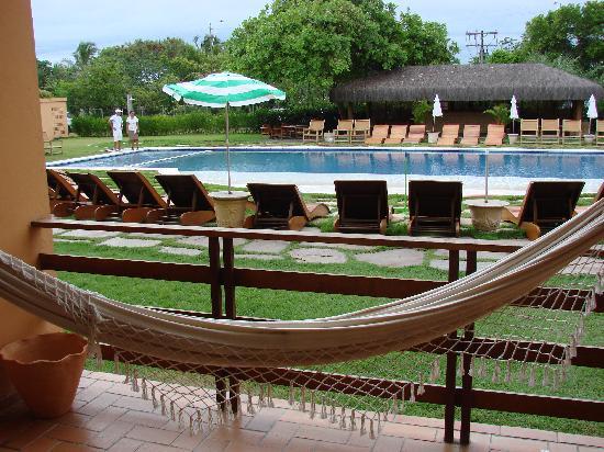 Resort La Torre: vista de una de las piletas desde la habitacion
