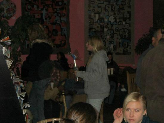 Javalina Coffee House: People gathered after the Christmas Parade 2011