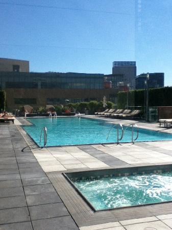 the pool area on the 4th floor (theres a bar too)