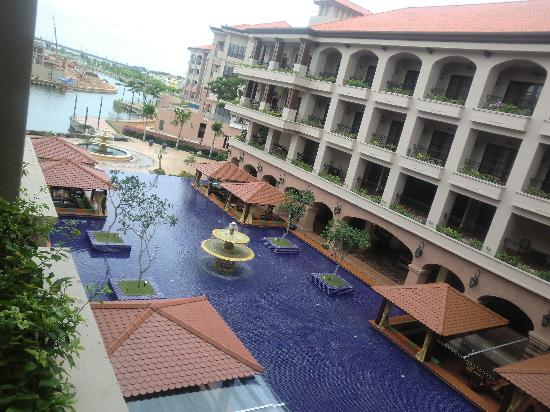 Casa del Rio Melaka : A view of the hotel from sencond floor