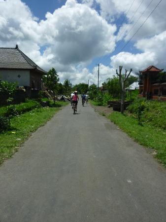 Bali On Bike: Riding through a village