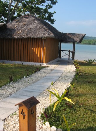 Oyster Island Resort: One of the premium bungalows at the waters edge