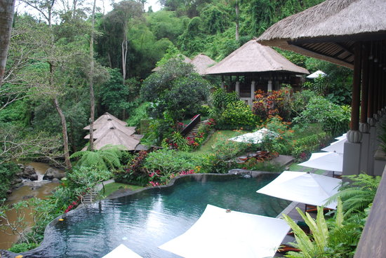 Maya Ubud Resort & Spa: Lower pool