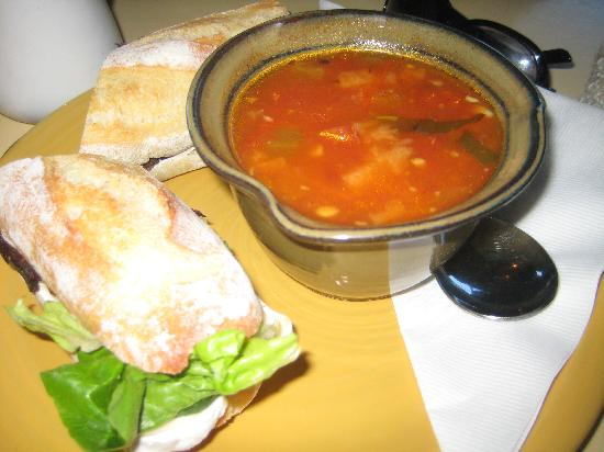 Hilary's Artisan Cheese: My soup and yummy sandwiches