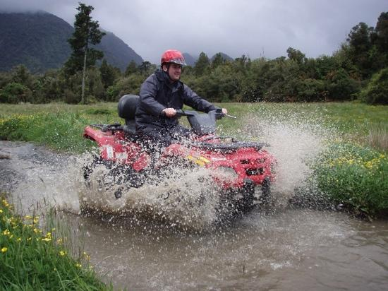 Across Country Quad Bikes: you may get wet!