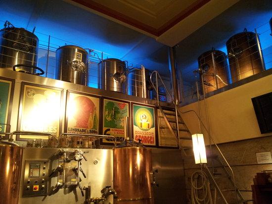 Brasserie Georges: les cuves de bière