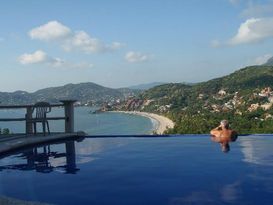 View of Zihuatanejo from La Escollera pool.
