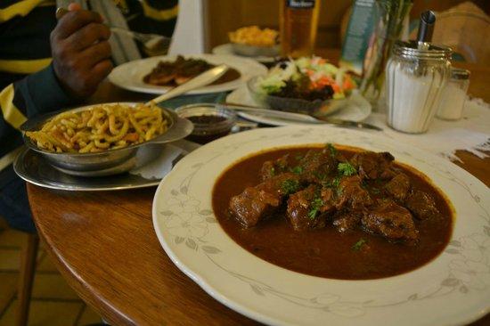 Gasthof Goldener Greifen: Boar ghoulash..their delicacy
