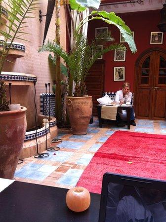 Riad Eden: Courtyard