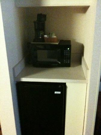 Hampton Inn Denver West Federal Center: Fridge and Microwave in room.