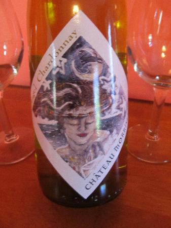 "Chateau Morrisette: ""Angel Chardonnay"", tropical blend of pineapple and mango with a heavenly smooth finish."