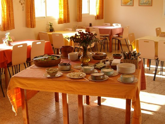 Galilee, Israel: breakfast