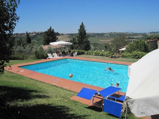 Podere Le Rondini: la superbe piscine