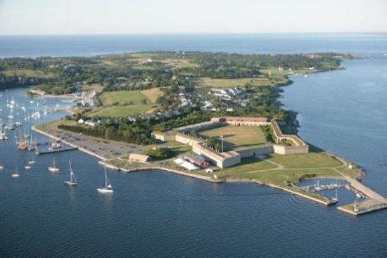 Newport, RI: Aerial of Fort Adams by Billy Black