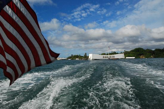USS Arizona Memorial/World War II Valor in the Pacific National Monument: Leaving the Arizona Memorial