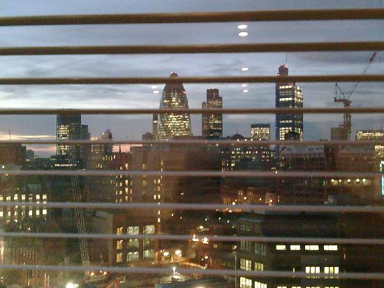 view of city through dining area window - Picture of ...
