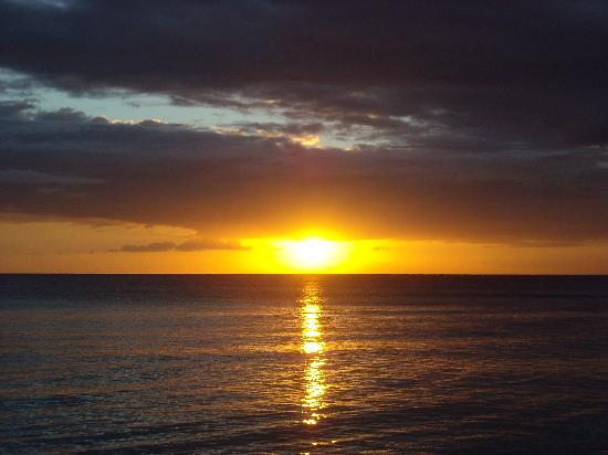 Cabana Elke: Uno dei tanti bellissimi tramonti a Bayahibe.