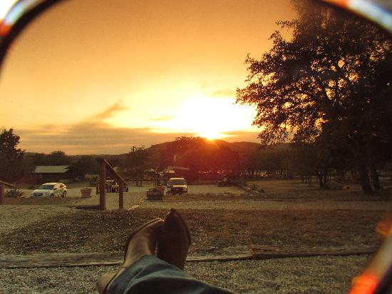 Rancho Cortez: Sunset from our porch