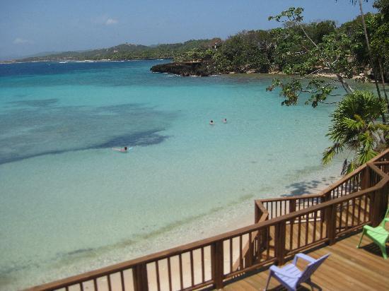 Media Luna Resort & Spa: Beach Deck View...Stunning eh?!