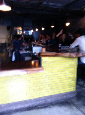 Mission Cheese: view of bar