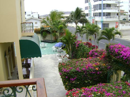 Hotel Amira in Salinas, Ecuador: View from our room