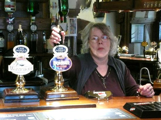 The Old Queen's Head: The owner - so fun and friendly!