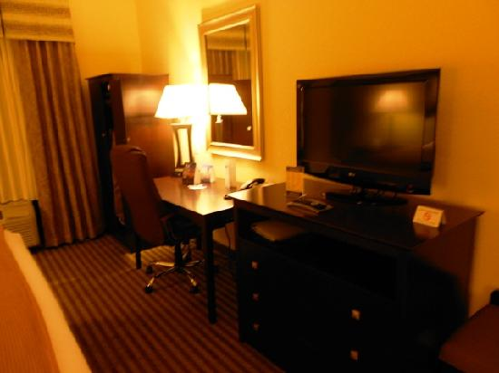 Holiday Inn Express Hotel & Suites Greenville : Desk/TV/Closet