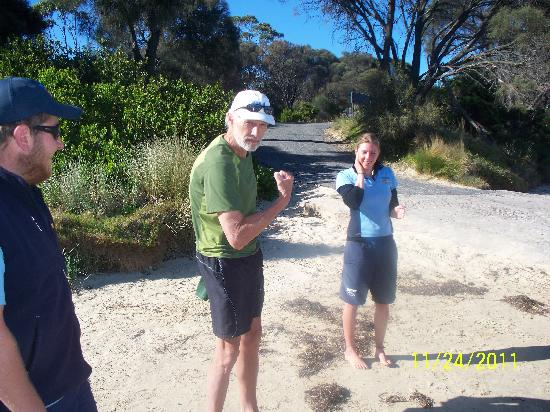 Freycinet Adventures: Bill, showing he's got the guns to paddle