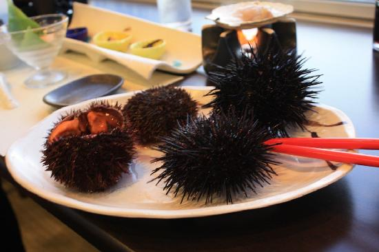 Hotel Unigoten : 夕食 ウニのコース