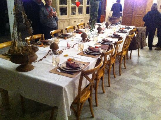 Truffiere des Merigots: Un des decors de la table