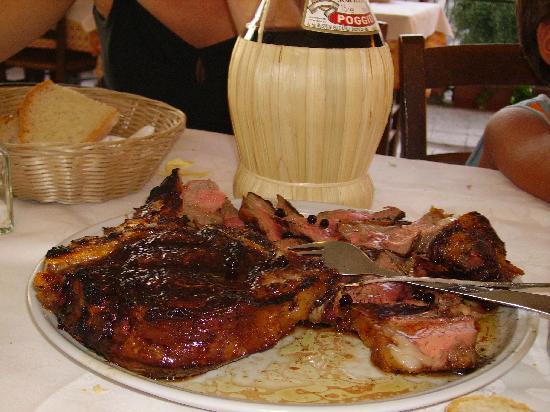 Orentano, Italien: la vera bistecca fiorentina