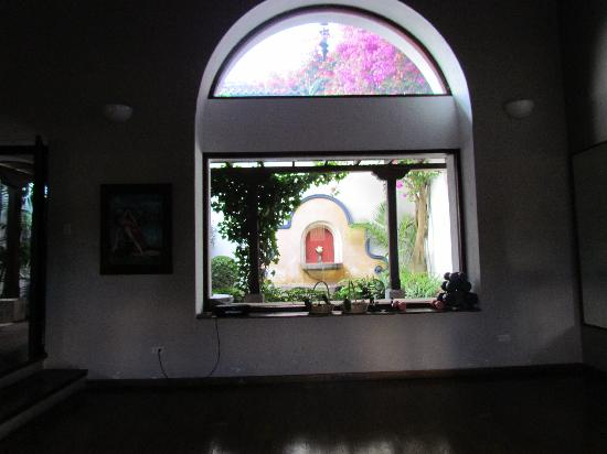 Healing Hands Therapy Spa: yoga studio looks out to garden