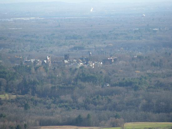 View of Mount Holyoke College from top of Mount Holyoke