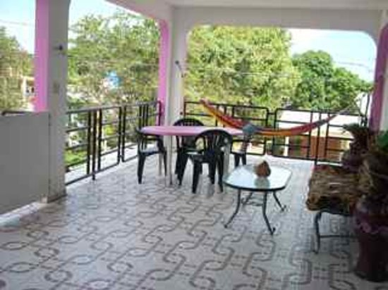 Coco Loco Guesthouse: Large balcony with hammocks for the 2 Bedroom Apartment