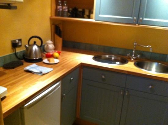 Broseley House: kitchen off our room
