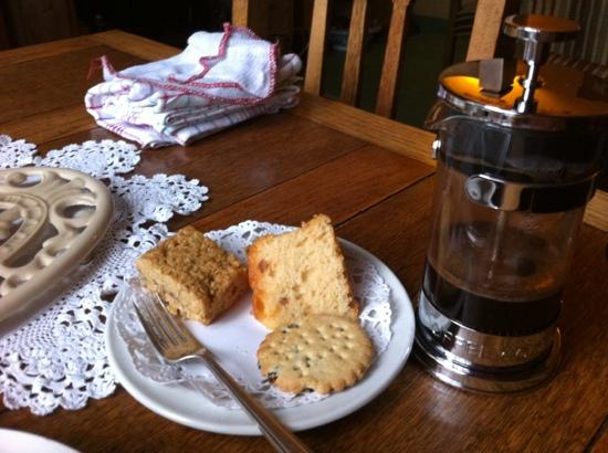 Broseley House: coffee and cake on my arrival