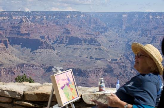 Thunderbird Lodge: Artists at work. Grand Canyon.