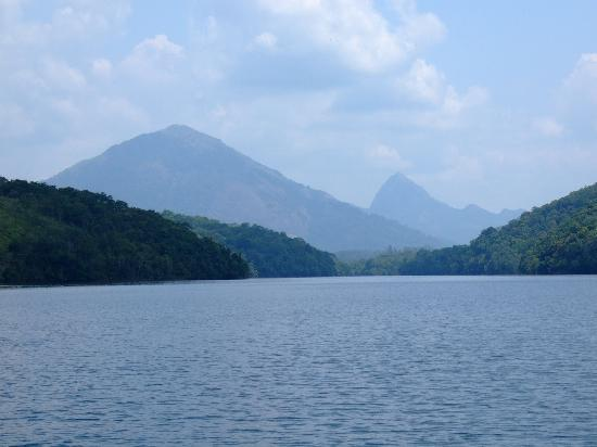 Neyyar Wild Life Sanctuary: Neyyar Dam view over the lake