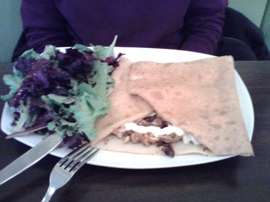 Luna Crepes and Cafe: cajun chicken crepe