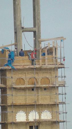 Riad Amazigh Meknes: Nochmal der Minarettbau