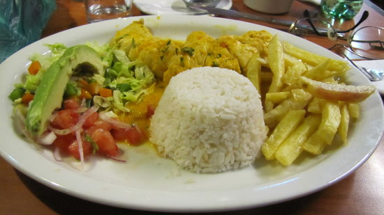 Raymipampa: Seco de Pollo.Excellent.Around 6 or 7 dollars