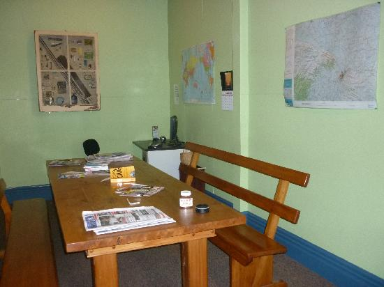 The Fire Station Backpackers: Dining area