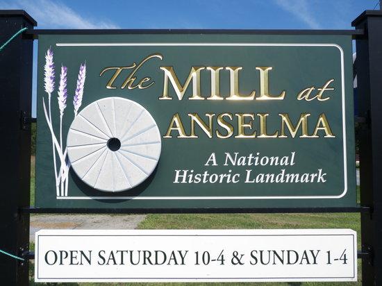 The Mill at Anselma: Sign at enterance
