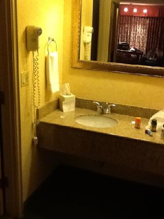 Red Lion Inn & Suites Missoula: sink in double full bed room