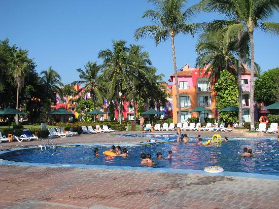 Royal Decameron Complex: Pool #2 looking towards Block 3