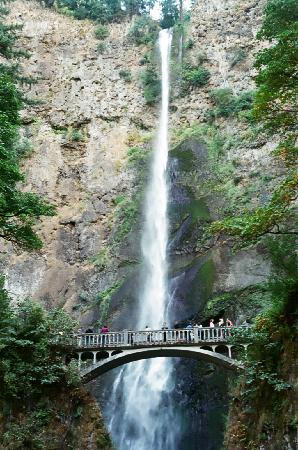 Columbia River Gorge: Multnomah Falls from parking lot