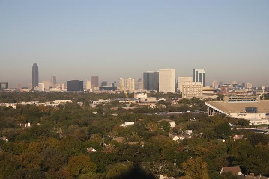 Hilton Houston Plaza/Medical Center: Nice downtown view from 18th floor