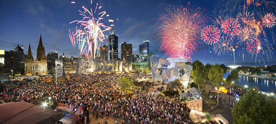 Photo of Tourist Attraction Federation Square at Corner Swanston And Flinders Streets, Melbourne, Vi 3000, Australia