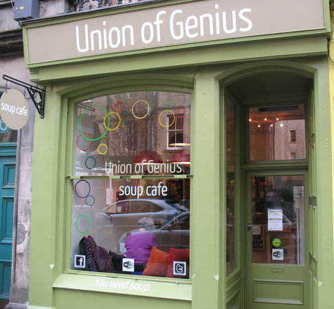 Union of Genius: Cafe front, October 2011