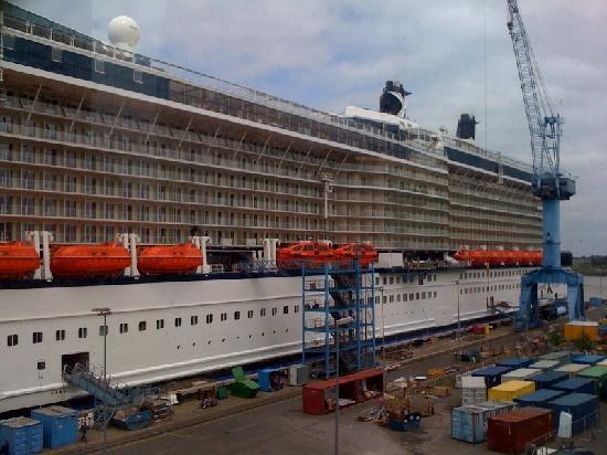 Papenburg, Allemagne : Kreuzfahrtschiff in Bau
